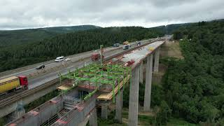 Ausbau A 61: Baustelle Tiefenbachtalbrücke