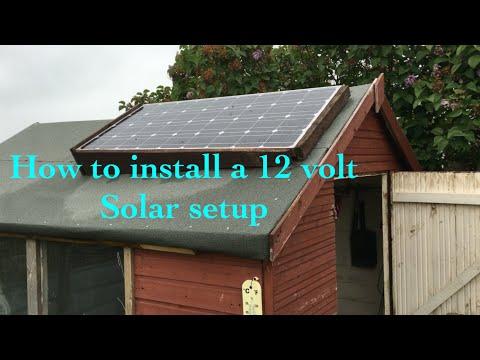 How to install a 12 volt Allotment Shed/Workshop Solar Setup