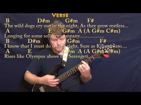 Africa (Toto) Guitar Chord Chart in C#m with Chords/Lyrics