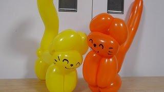 バルーンアート・ねこ①  balloon twisting cat part1