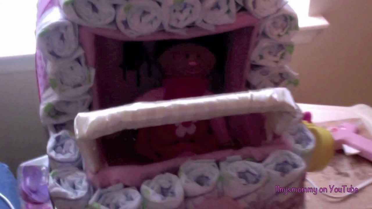 How To Make A Diaper Stroller Cake Youtube