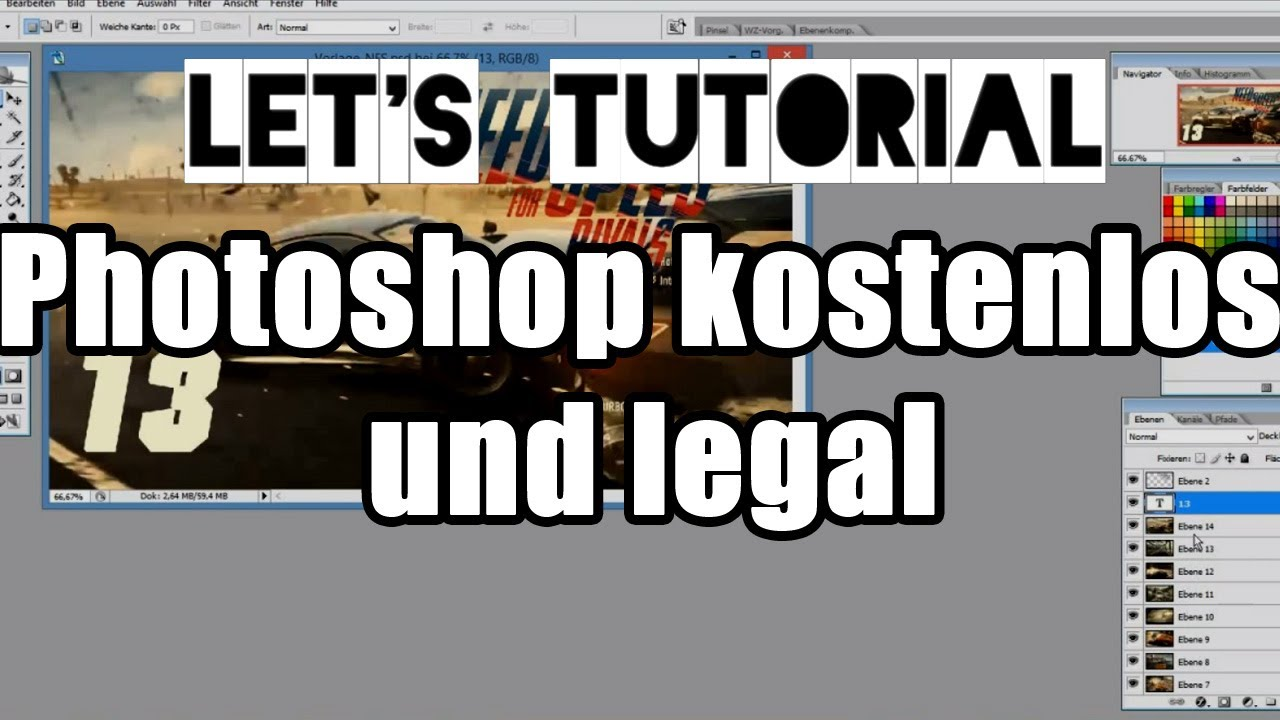 let 39 s tutorial 08 adobe photoshop kostenlos und legal herunterladen deutsch hd youtube. Black Bedroom Furniture Sets. Home Design Ideas