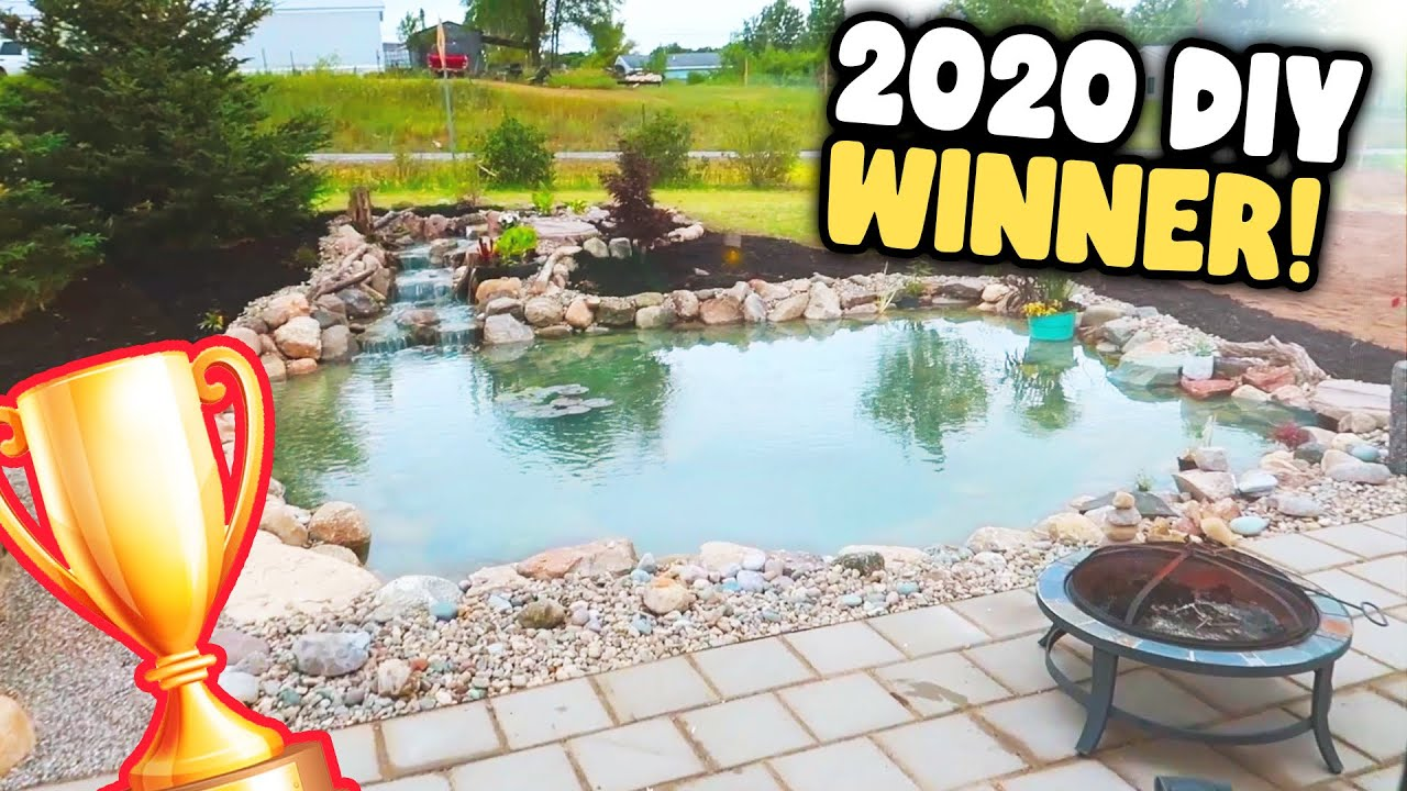 Best *DIY POND* EVER! Visiting the WINNER of the 2020 DIY POND BUILD CONTEST