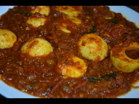 Egg Curry - Non Veg Recipe - Gravy for Rice/Tiffin (in Tamil with English Subtitles)