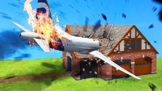 I CRASHED Into My FRIENDS HOUSE In FLIGHT SIMULATOR 2020! (TROLL)