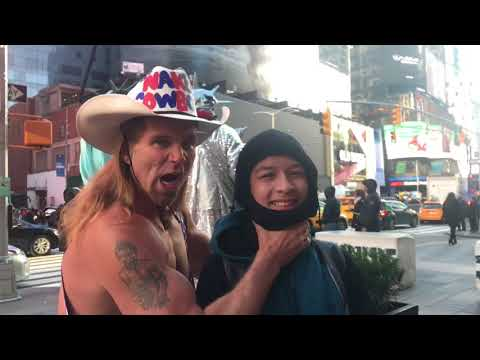 The drunk naked Cowboy