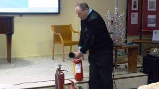 Учебное занятие по противопожарной безопасности в библиотеке