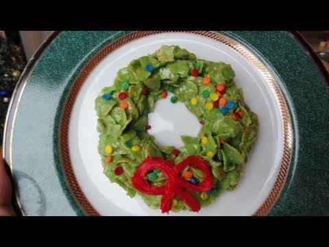 Marshmallow Cereal Christmas Wreath Treats