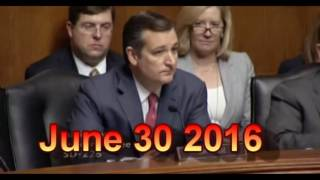 Jeh Johnson vs Cruz, Sessions, Cornyn, & Lee  June 30, 2016 Free HD Video