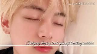 (requested) Taehyung sleeping beside you asmr (use headphones for better experience)