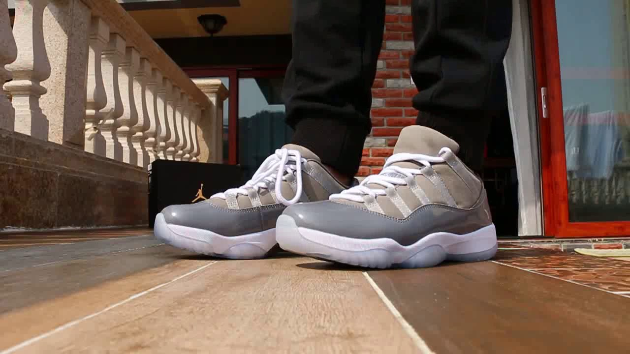 check out 9d8cd 41931 Air Jordan 11 Low Cool Grey 2018 On Foot Review