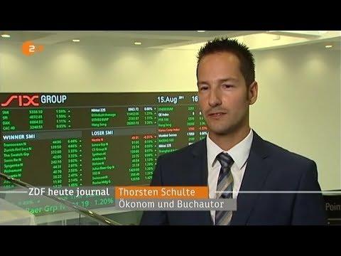 Thorsten Schulte: 40 Jahre Goldpreislösung des US-Dollars,Heute Journal - 15.08.2011 auf ZDF