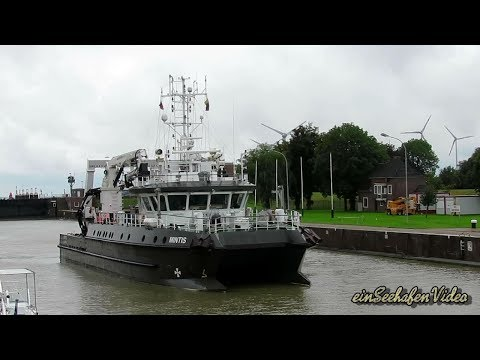 research & survey ship MINTIS LYAP IMO 9713636 inbound Emden Forschungsschiff