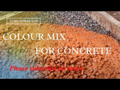 Colour Mix For Colour Concrete