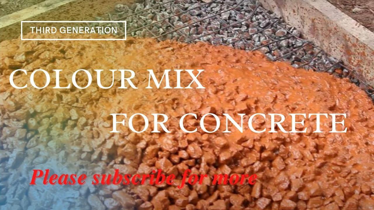 Colour Mix For Concrete