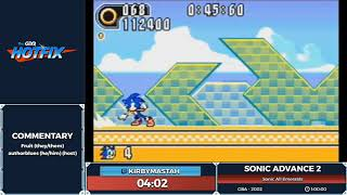 Sonic Advance 2 by kirbymastah in 54:14 - Sonic and the Shiny Things