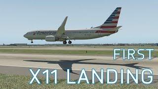 X11 First Ever Landing in X-Plane (Jetliner)