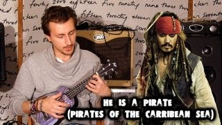 show MONICA Ukulele Разбор#1 - Hans Zimmer - He is a pirate (tutorial ENG subs Fingerstyle)
