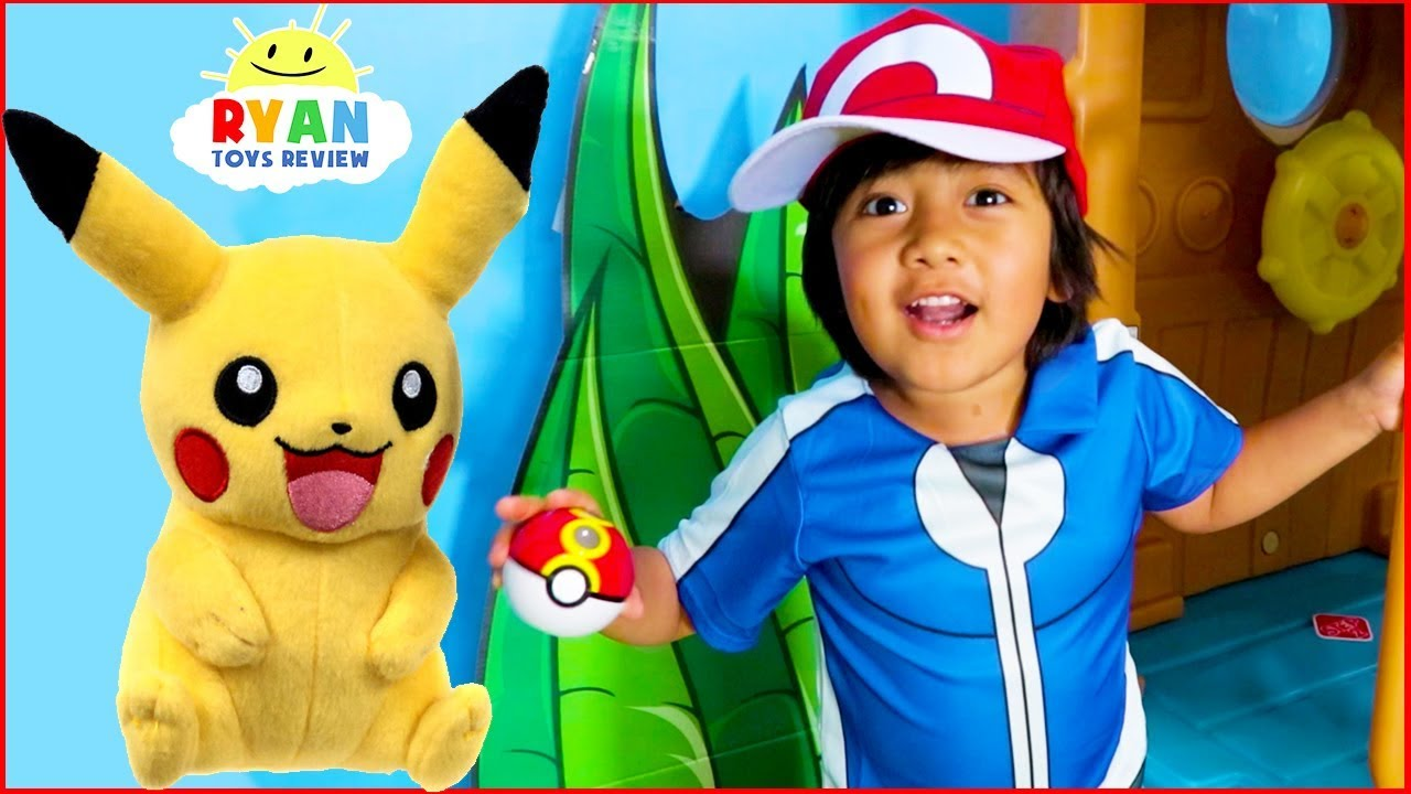 Download Ryan Pretend Play with Pikachu Pokemon Go In Real life!!