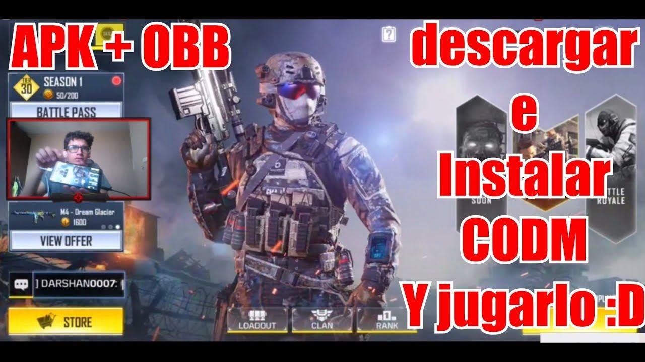 descargar call of duty mobile apk obb