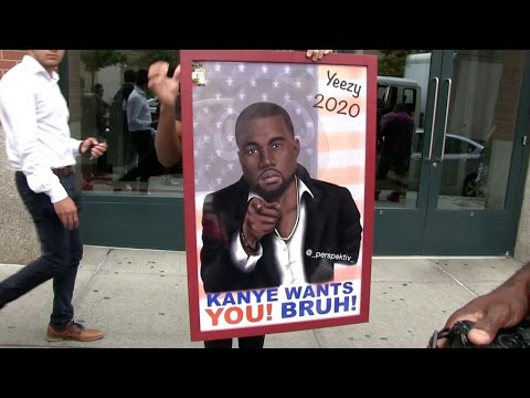 Kanye West for President, a Fan in New York try to start the Revolution