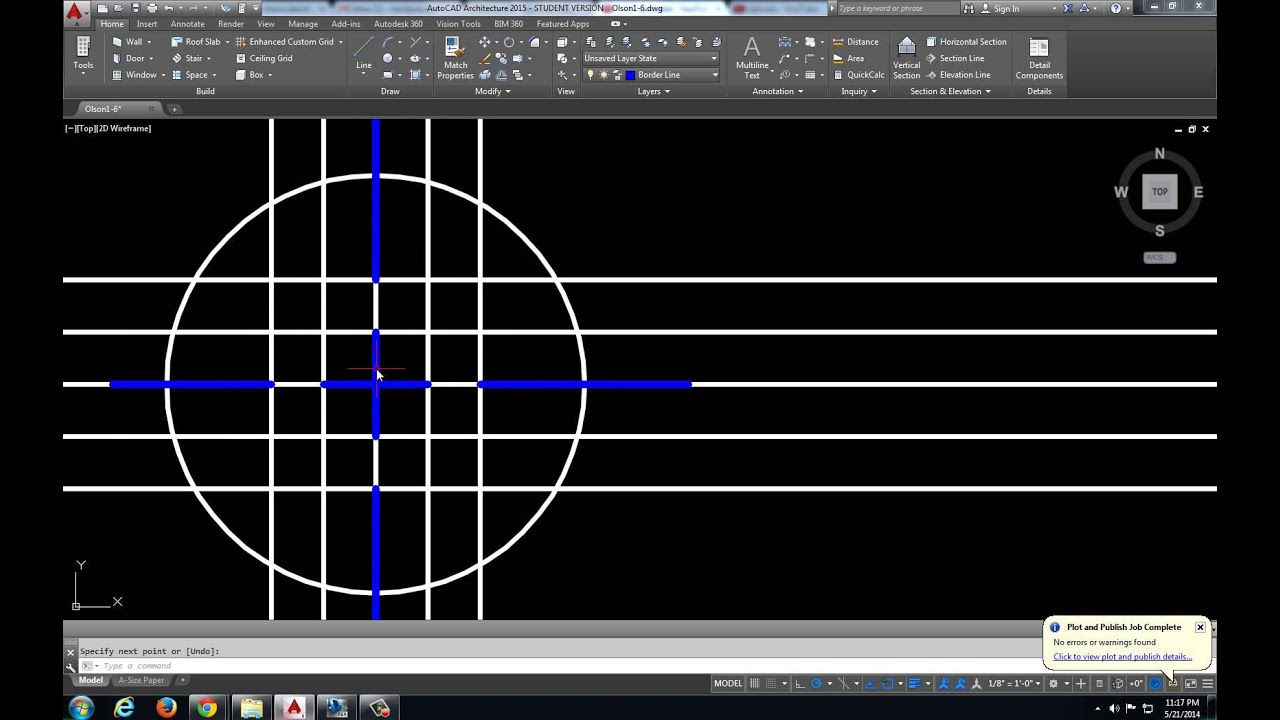 basic autocad architecture commands part 5 layers, center marks