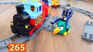 Поезда Мультики про Паровозики: Погоня - Город машинок 265 серия Мультики для детей про игрушки