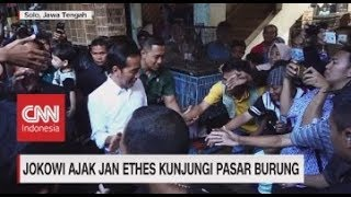 Jokowi Ajak Jan Ethes Kunjungi Pasar Burung