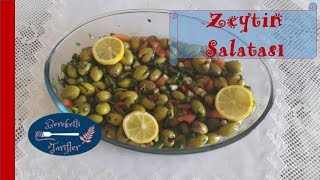 Pazar Kahvaltılarının Sultanı Zeytin Salatası (Hatay usulü) | Bereketli tarifler