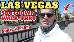 Las Vegas Update - Strip Shutdown Walk Thru