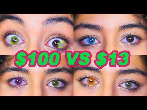 $100 Contacts VS. $13 Contacts (Solotica Hidrocor & NEW Siesta Comparison)
