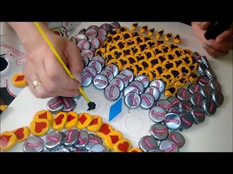 Mariquitas de tapas de cerveza para decoración ~ arte & reciclaje.
