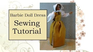 Sewing Tutorial For Barbie Doll Pinafore