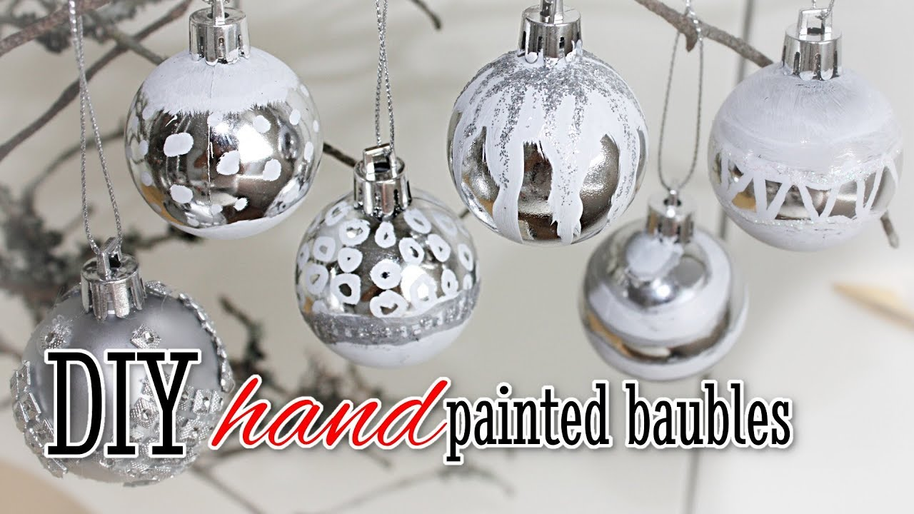 diy hand painted christmas baubles easy to make ornaments