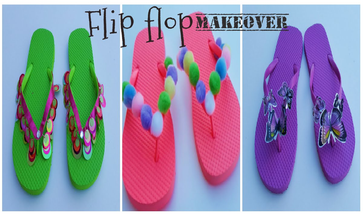 3bd0c7112bd3d9 How I decorate my flip flops
