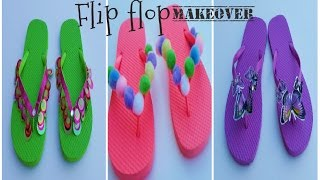 How I decorate my flip flops |Very simple flip flop DIY ideas