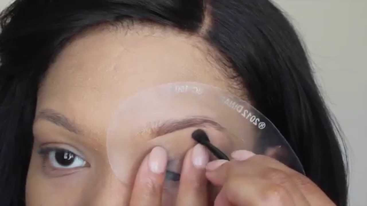 How To Use Brow Stencils Super Easy Youtube