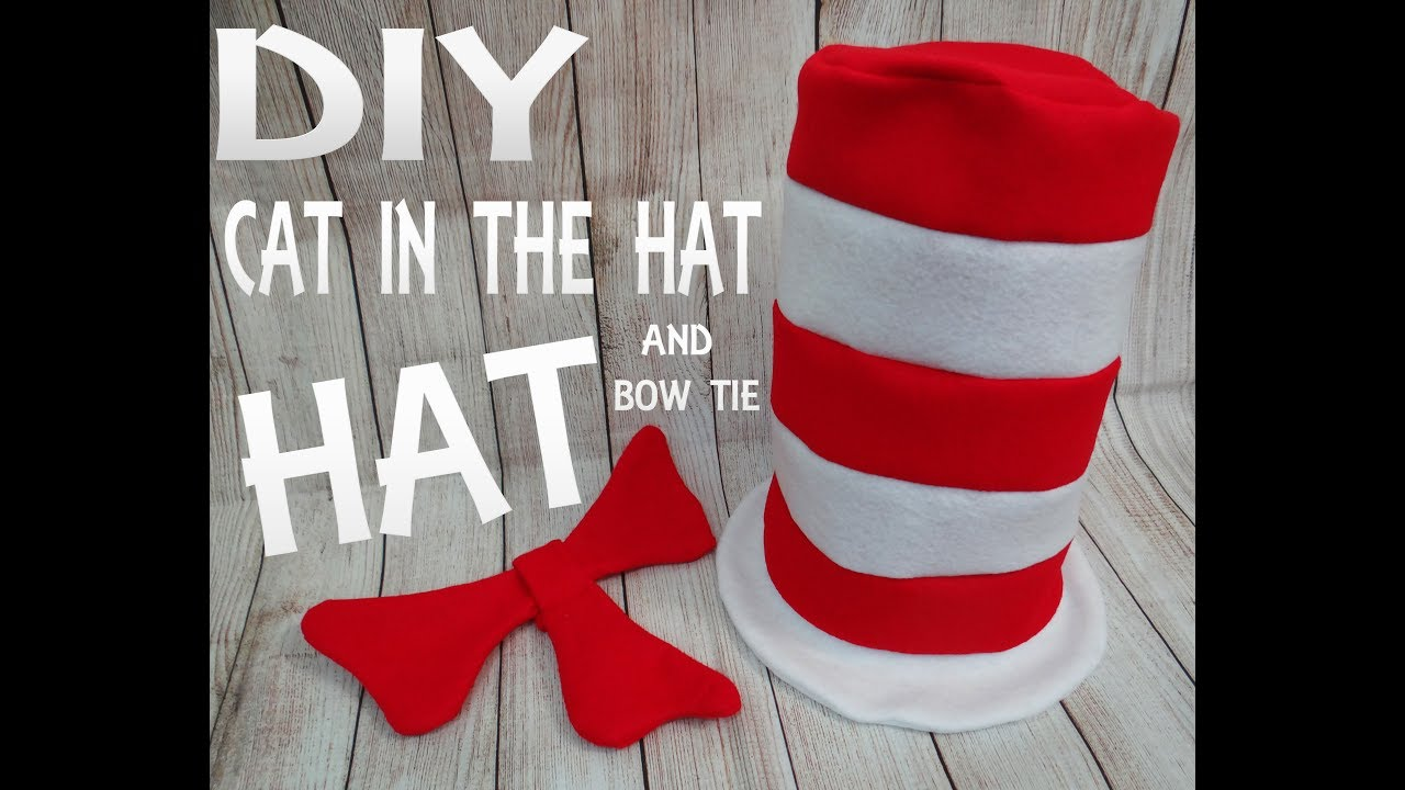 Diy Cat In The Hat Hat And Bow Youtube
