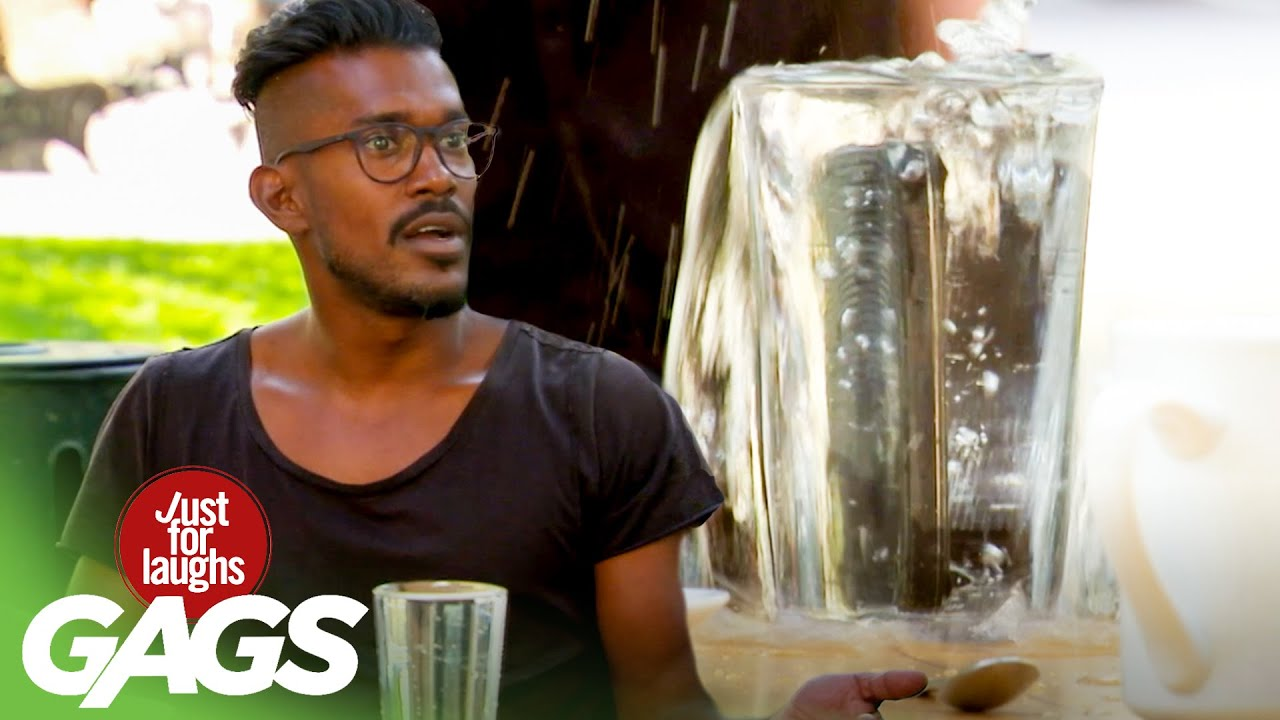 Funny Prank አስቂኝ ሽወዳ - Angry Boss Drops Server's Cellphone in a Cup of Water