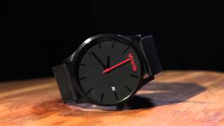 The MVMT Classic Black/Black Leather