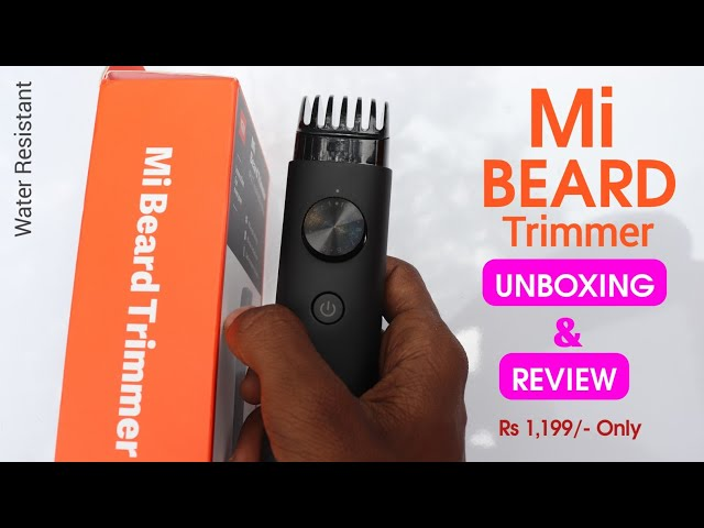 Mi Beard Trimmer, IPX7 Water Resistant, 90mins Battery Time: Unboxing, First Look, Price!!