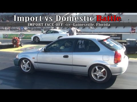 Import vs Domestic Battle at Gainesville Florida