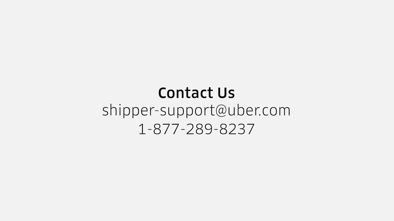 Support   How to Contact Customer Support   Uber Freight