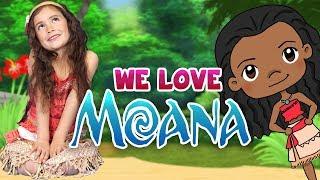 We Love Moana! | WigglePop | Finger Family Song | Videos For Kids