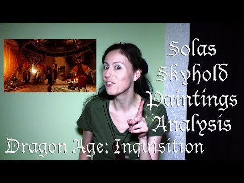 Analysis of Solas Paintings At Skyhold (Dragon Age Inquisition)