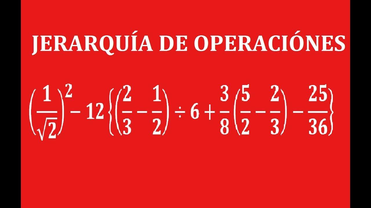 Jerarquía de Operaciones (Ejercicio con Fracciones y Signos de ...