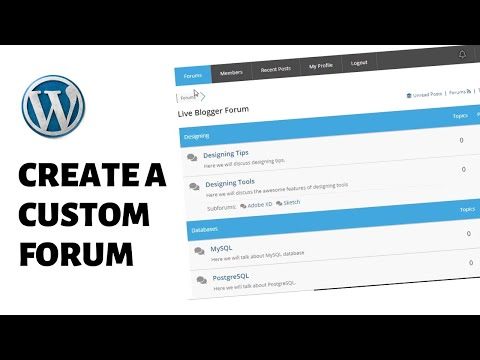 How To Create A Discussion Forum Website (WordPress)