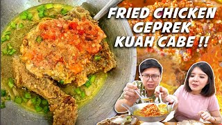 FRIED CHICKEN GEPREK KUAH TONGSENG SIAP VIRAL !! CABENYA BEBAS !!