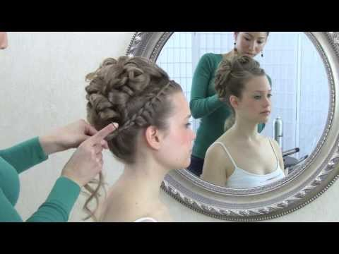 Wedding hair video tutorial  updo with curls and front braid d15d1c62018