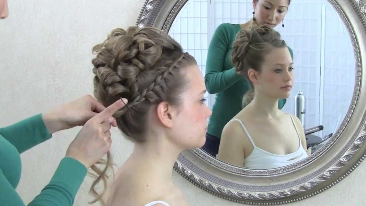 wedding hair video tutorial: updo with curls and front braid